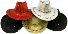 Sparkle Cowgirl Hats - Assorted