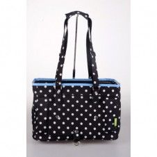 Spotty Shoulder Pet Carrier Black