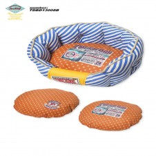 Touchdog Stylish Dog Bed Blue-Orange