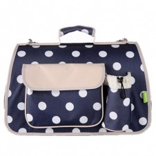Large Polkadots Igloo Carrier Navy