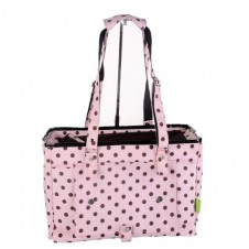 Spotty Shoulder Pet Carrier Pink