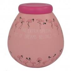 Personalised Pots of Dreams - Flamingo