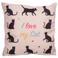 Cushion with Insert - I LOVE MY CAT