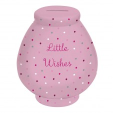 Little Wishes Money Pot:Spotty Pot