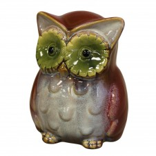Ceramic Owl Money Boxes - Red