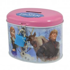 Disney Frozen Money Bank Tin Elsa Anna Olaf Sven
