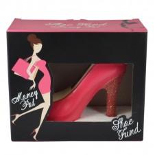 Pretty Pink Moulded Shoe Pot Of Dreams