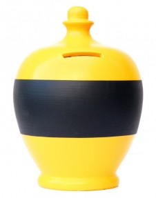 Terramundi Yellow Blackboard Money Pot