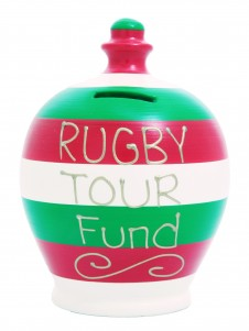 Terramundi Rugby Tour Fund Stripe Money Pot