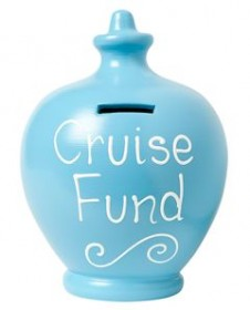 Terramundi:Pale Blue with Cruise Fund written in white