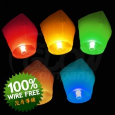 Chinese Lanterns Mixed Colours 5Pk