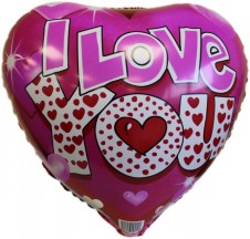 I Love You Foil Balloon