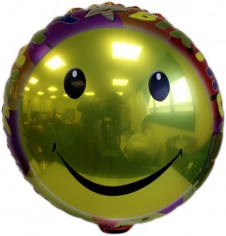 Golden Smile Foil Balloon