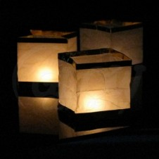 Chinese Floating Lanterns Gold 6Pk