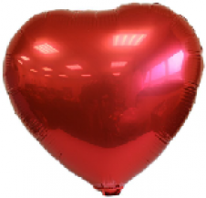 Red Heart Foil Balloon