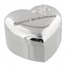 Amore Silver Plated Heart Trinket Box special Bridesmaid