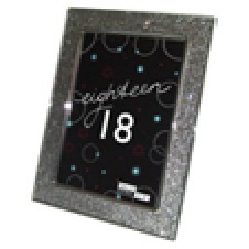 18th Birthday Glitter Photo Frame