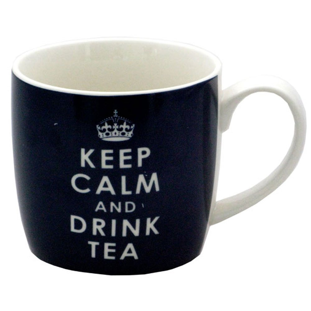 Keep Calm And Drink Tea Mug Black