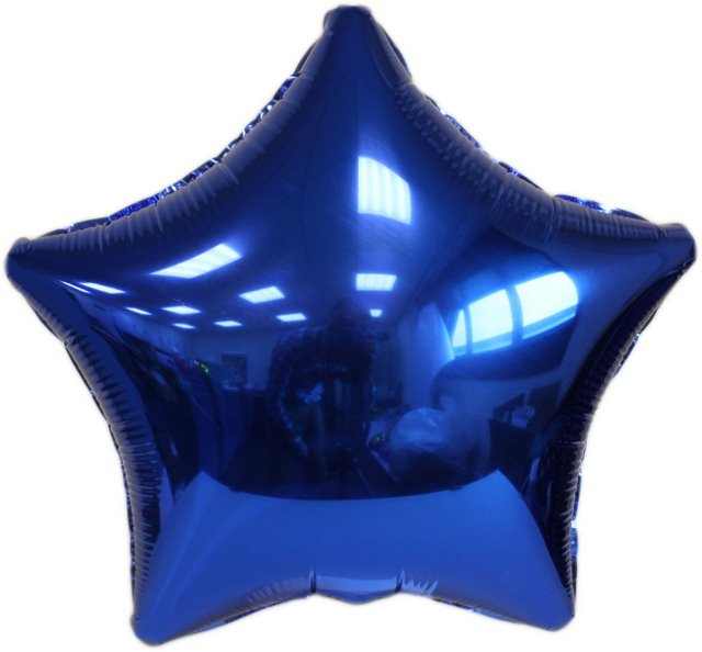 Blue Star Foil Balloon